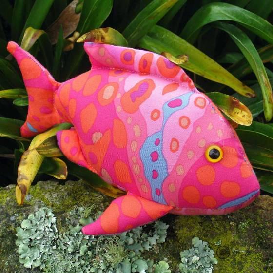Finger Pocket Fish 2 on a Rock